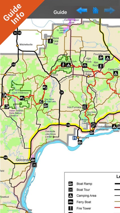 Shawnee National Forest gps and outdoor map