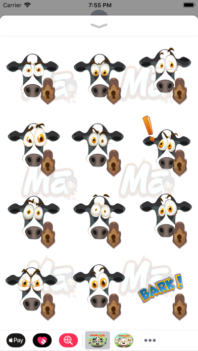 Animal Clan Cow Stickers screenshot three