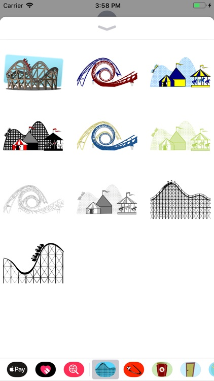 Roller Coaster Stickers