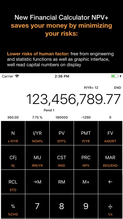 Financial Calculator NPV + screenshot-3