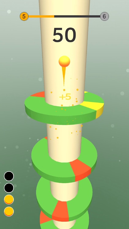 Bouncy Paint-spin  helix tower