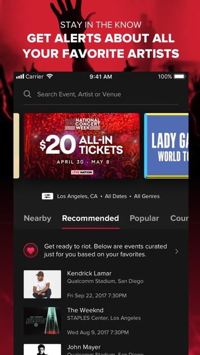 Live Nation – For Concert Fans app image