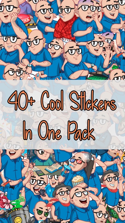 Man With Glasses Stickers