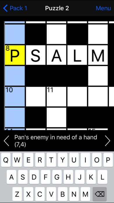 Cryptic Crossword screenshot four