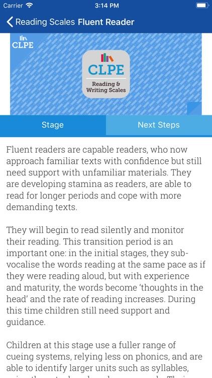 CLPE Reading & Writing Scales screenshot-3