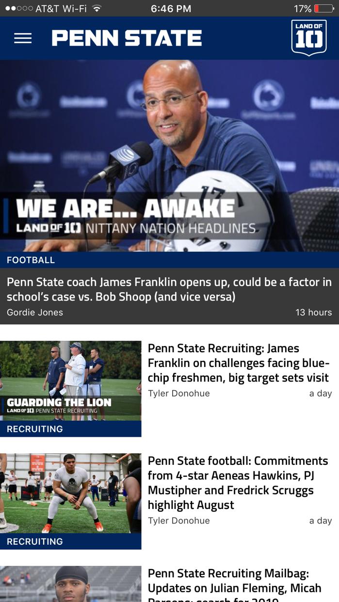 Landof10 - Big10 Football News Screenshot
