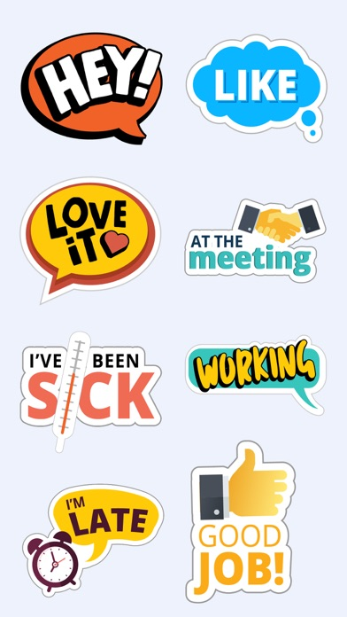 Fun Text Stickers for iMessage screenshot one