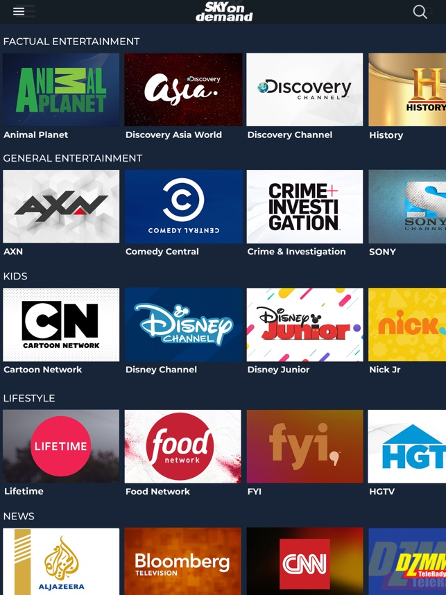 Sky On Demand on the App Store