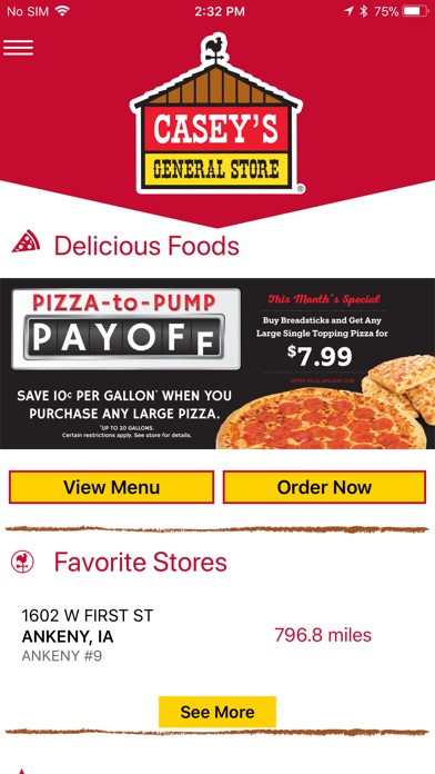 Screenshot for Casey's General Stores in United States App Store