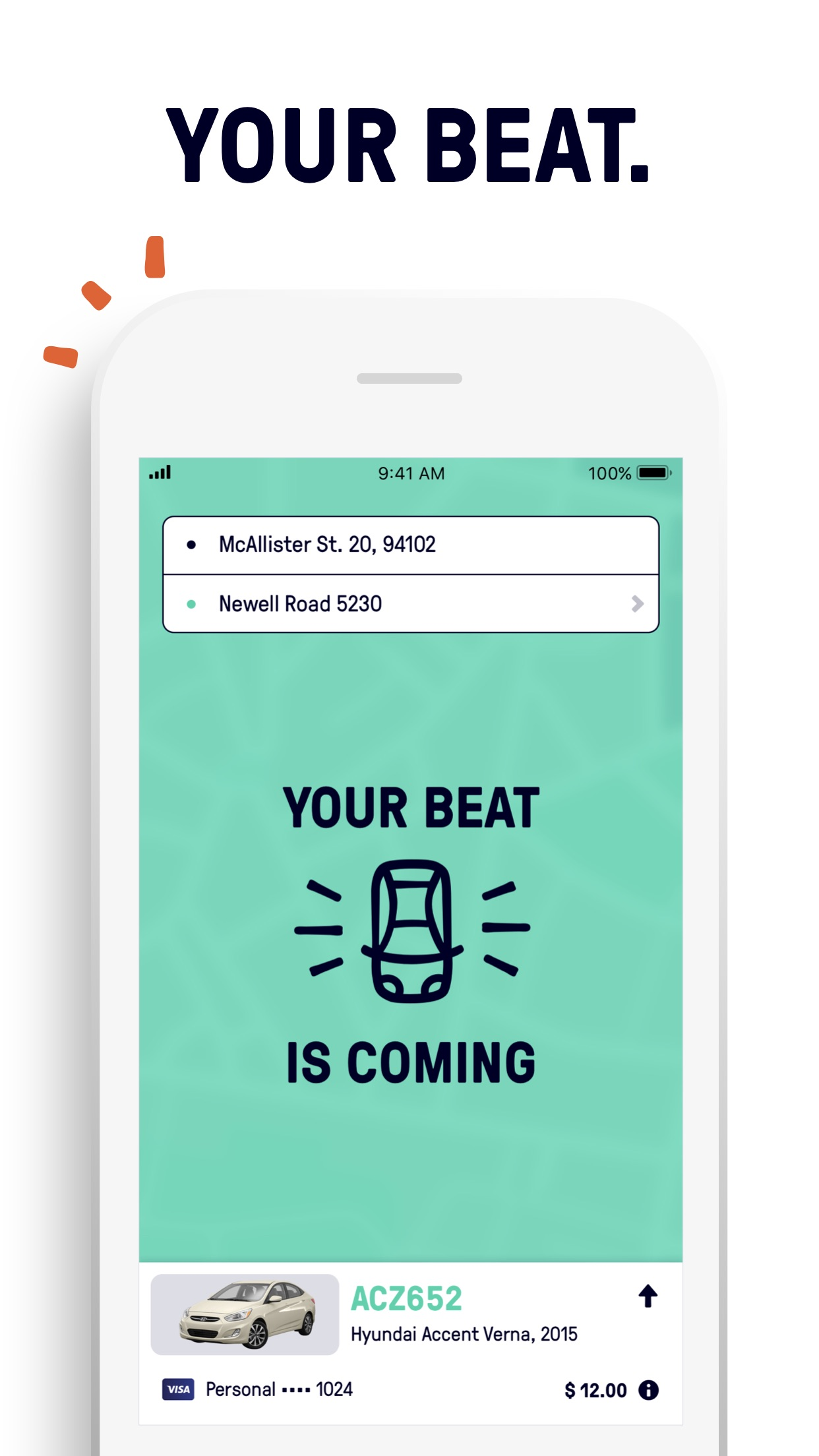 Beat - Ride app Screenshot