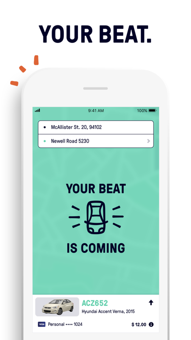 Screenshot for Beat - Ride app in Kuwait App Store
