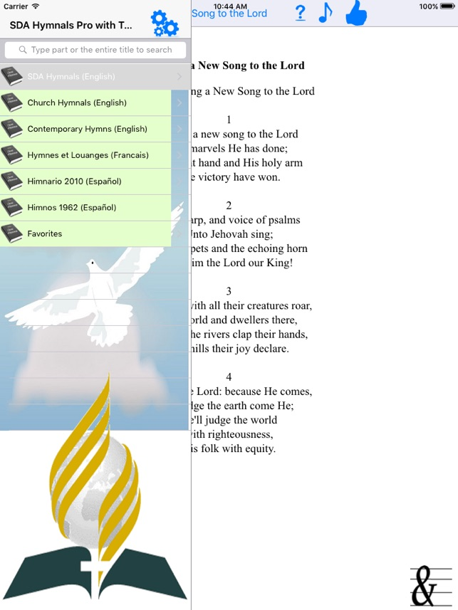 Lyric i choose the lord lyrics : SDA Hymnals With Tunes on the App Store