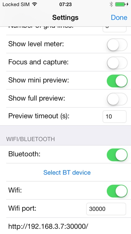 CameraPro Wifi/Bluetooth