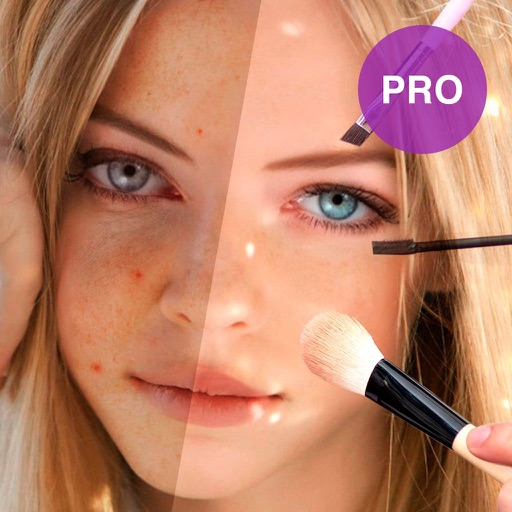 Visage Lab PRO HD: perfect makeup plus face editor app logo