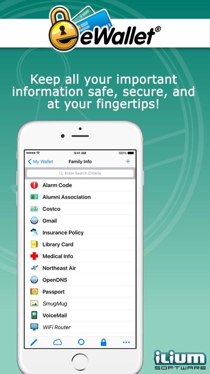 eWallet - Password Manager screenshot-0