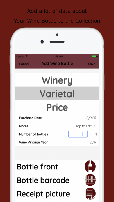 Wines List screenshot two