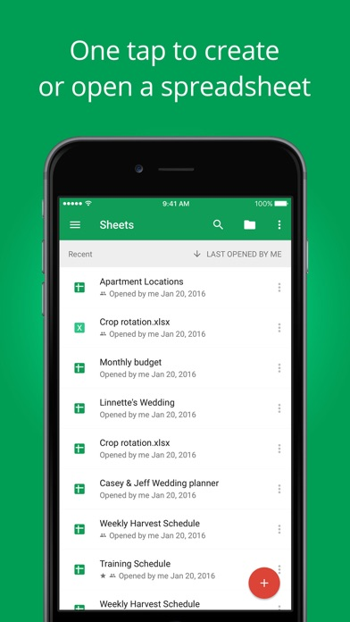 download Google Feuilles de calcul apps 1