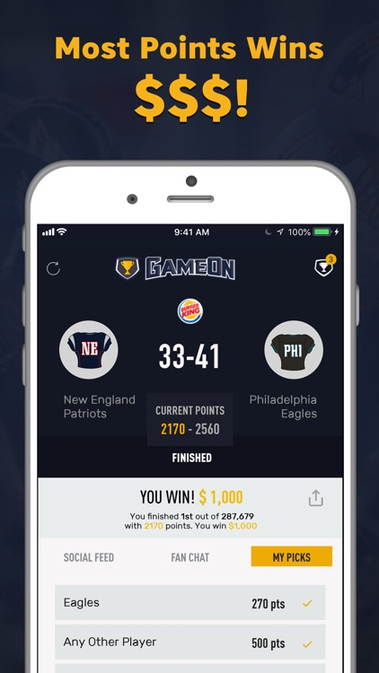 GameOn - Sports Picks screenshot-3