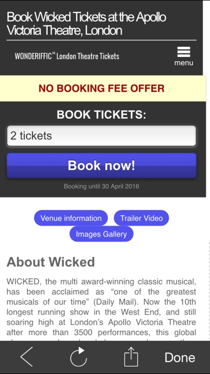 London West End Theatre Ticket screenshot-4