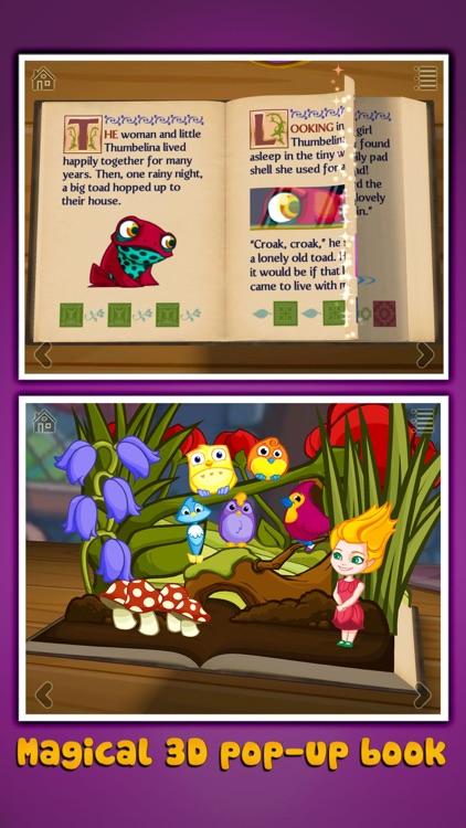 Thumbelina ~ 3D Interactive Pop-up Book screenshot-0