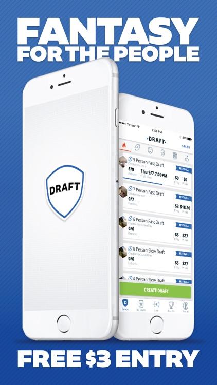 DRAFT - Daily Fantasy Football & Baseball Drafts screenshot-0