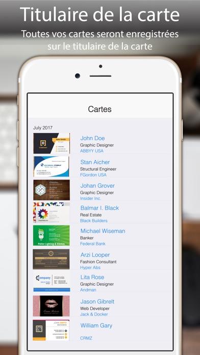 Scanner De Carte Visite Pro App Image