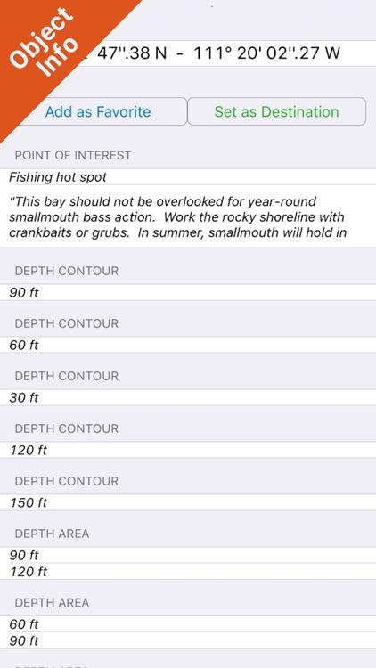 Lake Powell GPS Fishing Charts screenshot-3