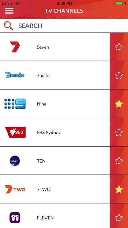 Australia TV listings live AU by French Kiss Apps