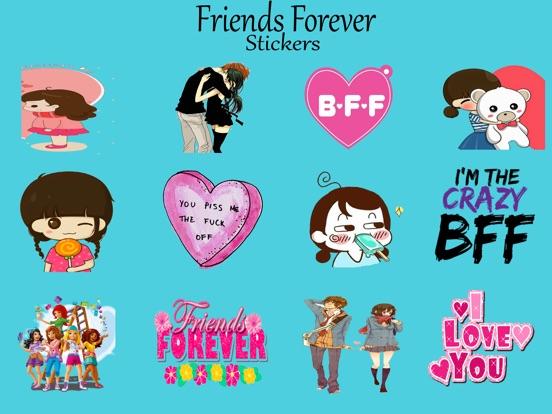 7cccf6e6a Love Friends Forever Stickers