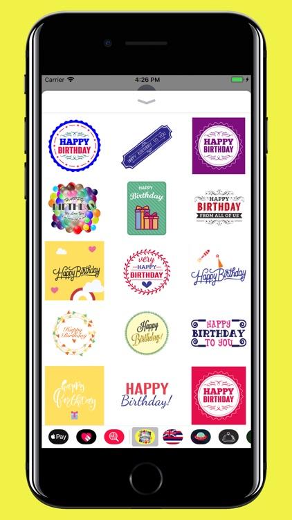 Happy Birthday - stickers