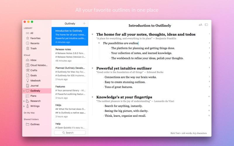 Outliner app