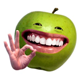 Funny Apple Man Emoji Sticker
