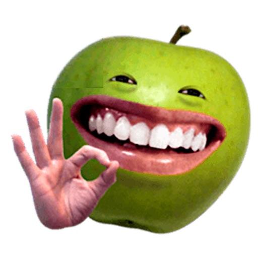 Funny Apple Man Emoji Sticker