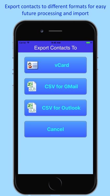 1.2.3 Contacts Backup Lite screenshot-4