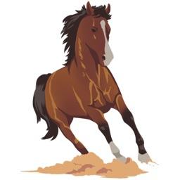 HorseMoji - Quarter Equestrian Horse Emoji Sticker