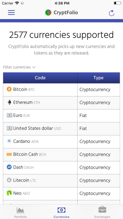 CryptFolio screenshot-3