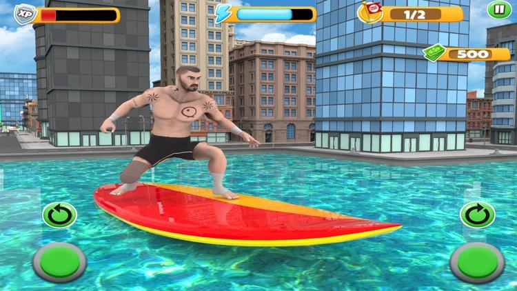 Extreme Water Surfer Flip Dive