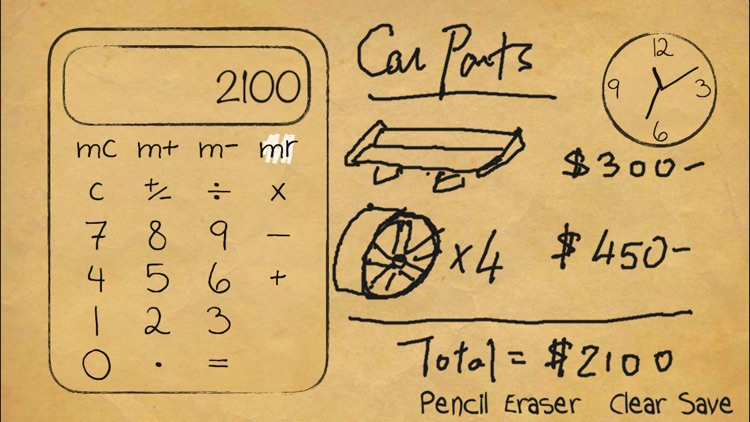 Paper Calculator & Clock