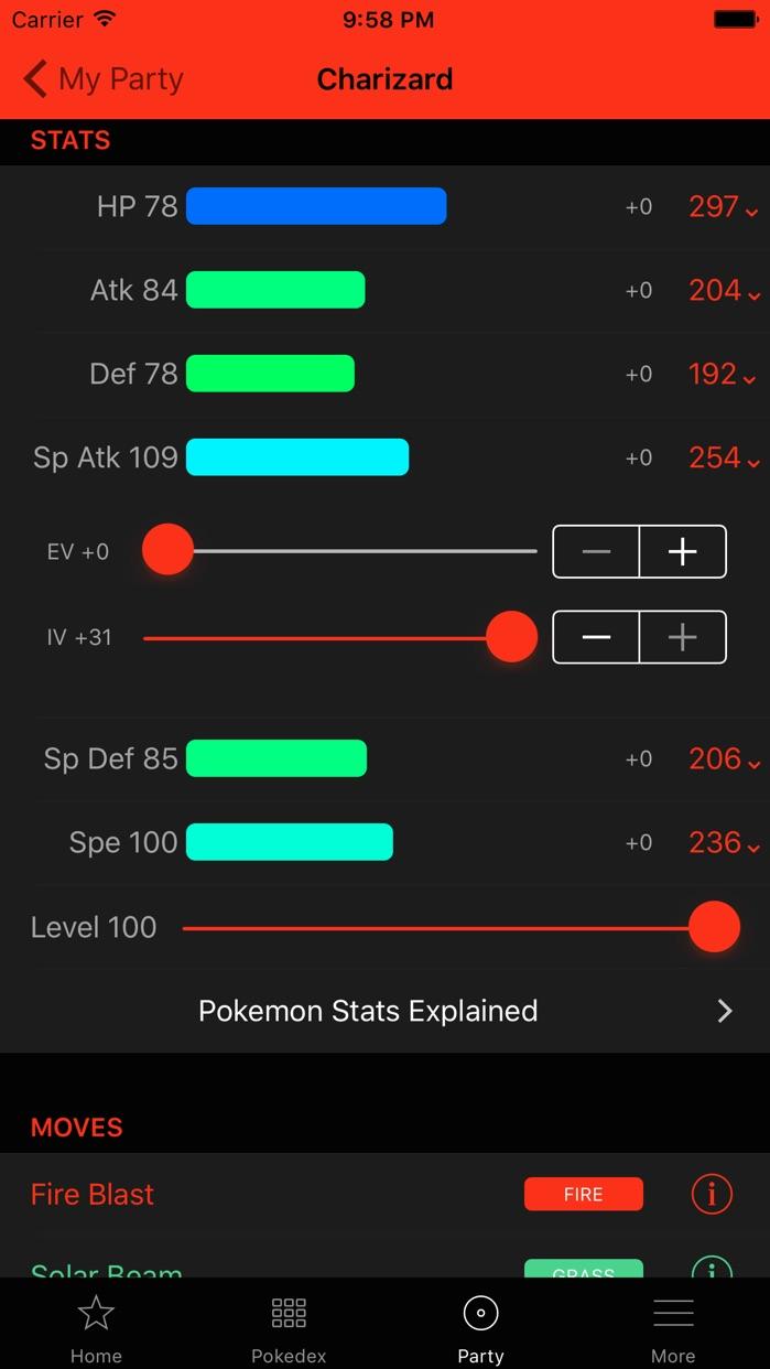 Oak Dex Team Builder Guides Screenshot