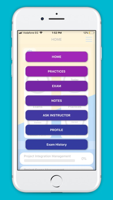 Screenshot of PMP Master App