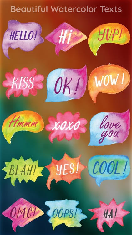 Watercolor Words Sticker Pack