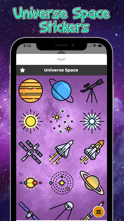 Universe Space Stickers