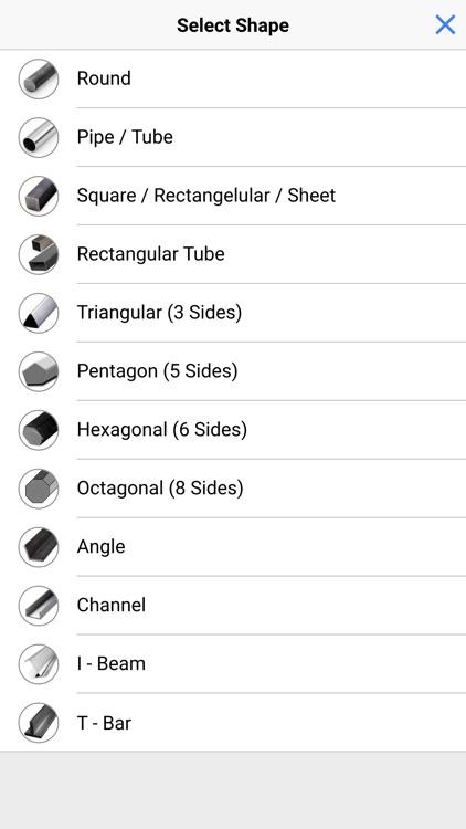 Metallo - Metal Weight Calc screenshot-3