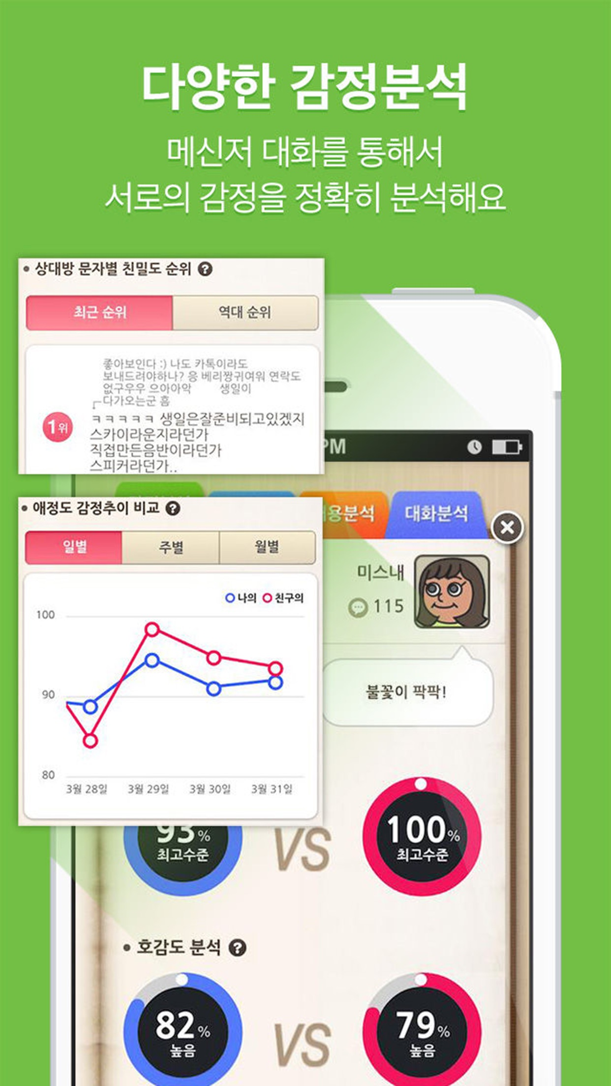 카톡감정분석! 텍스트앳 Screenshot