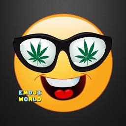 Weed Emoji - Stoned High Emoji