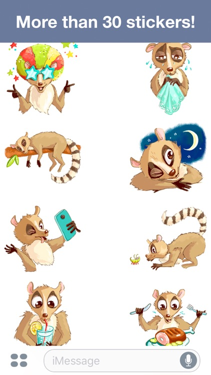 Lemur - Cute stickers screenshot-3