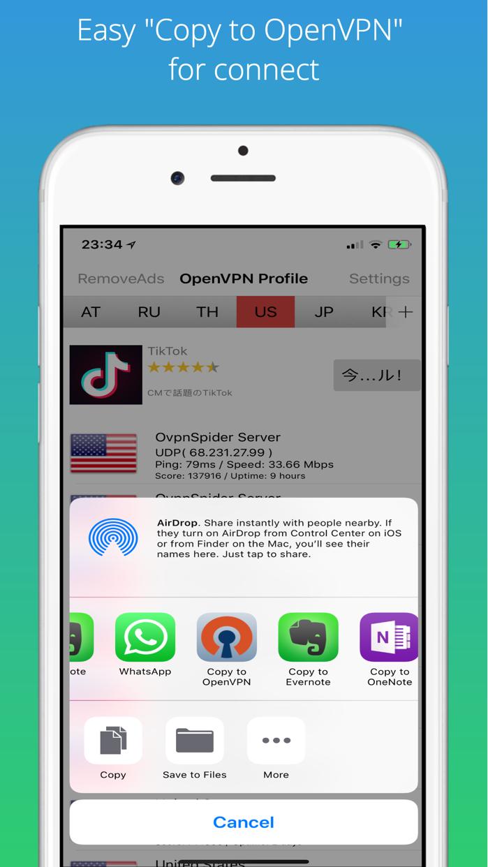 Best VPN Proxy OvpnSpider Screenshot