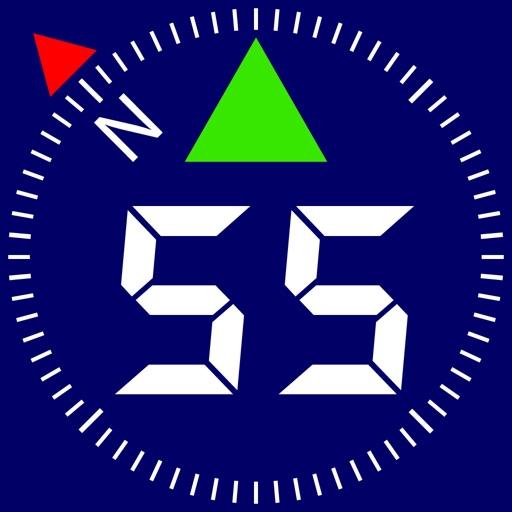 Compass 55. Land nav tool kit. app logo