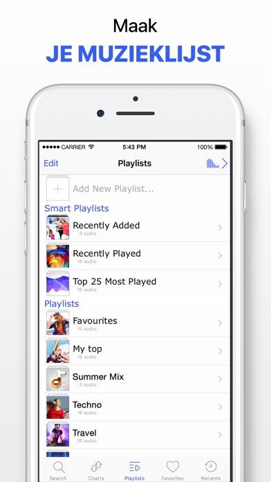 Screenshot for Muziek app zonder limieten in Netherlands App Store