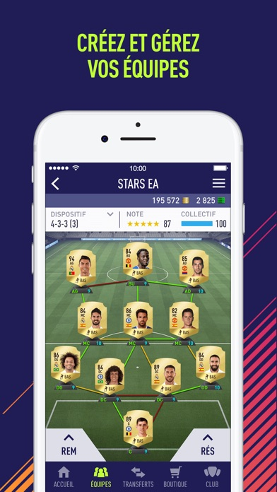 ea sports fifa 18 companion 18 0 5 pour ios android windows phone. Black Bedroom Furniture Sets. Home Design Ideas